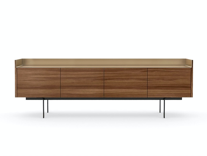 Punt Stockholm Sideboard STH411 Matt Walnut Bronze Top 2 Mario Ruiz