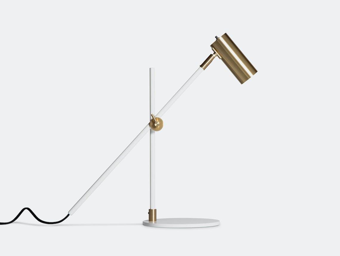 Rubn Lektor Desk Light white brass details