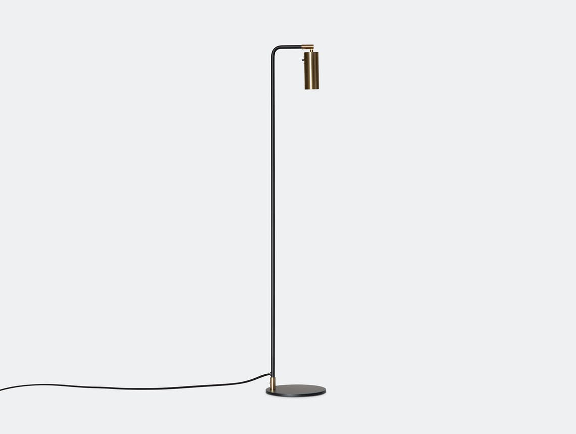 Rubn Lektor Floor Light black brass details