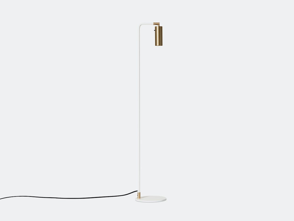 Rubn Lektor Floor Light white brass details
