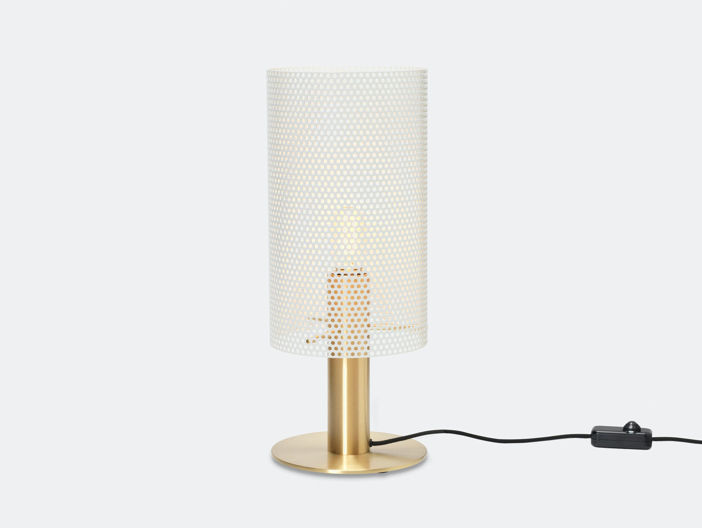 Rubn Vouge Table Lamp medium white brass