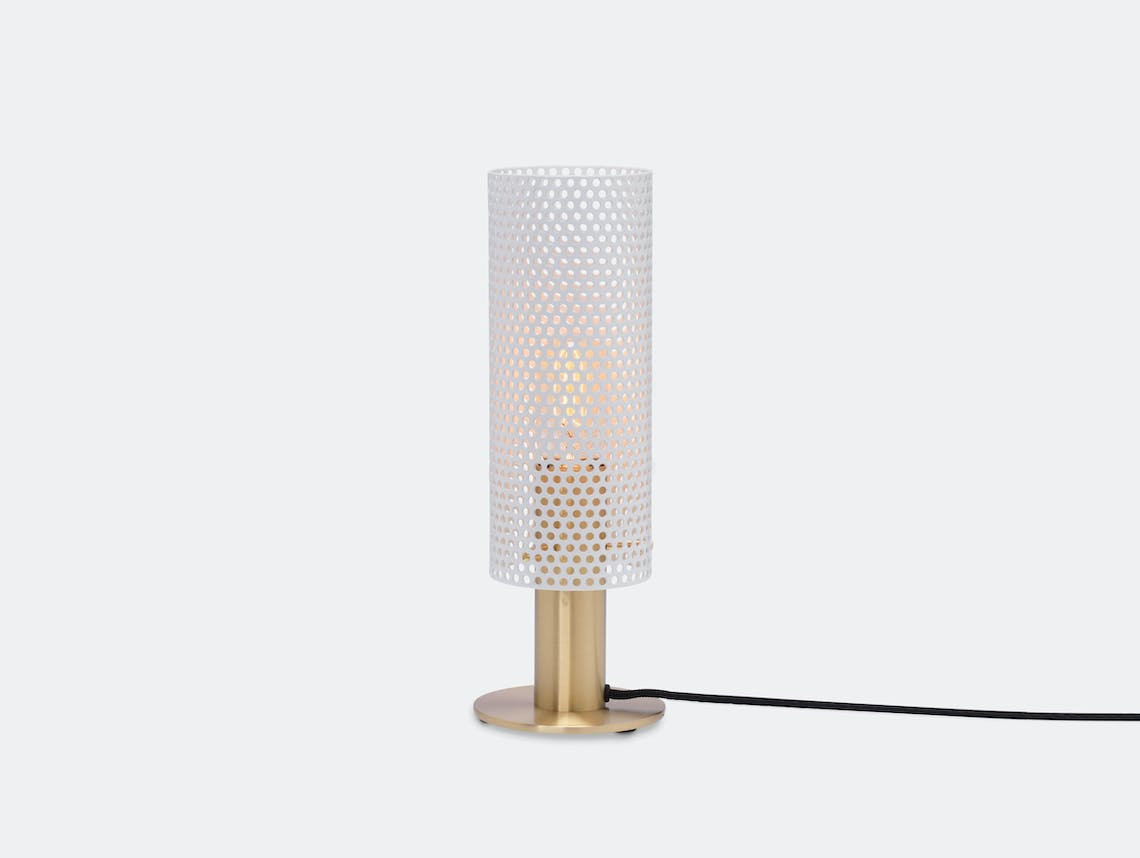 Rubn Vouge Table Lamp small white brass