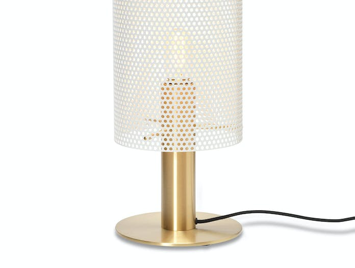 Rubn Vouge Table Lamp white brass detail