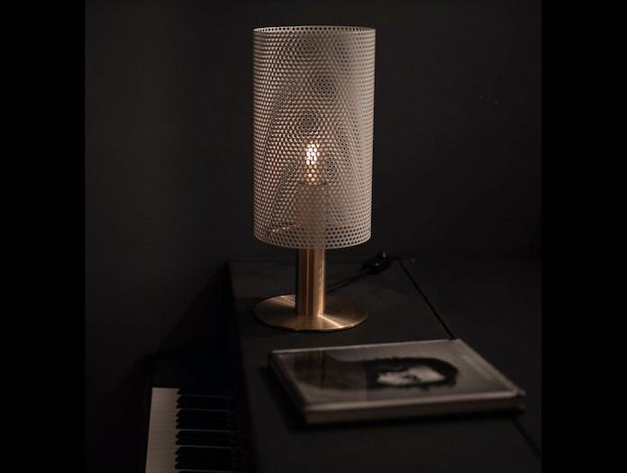 Rubn Vouge Table Lamp white brass