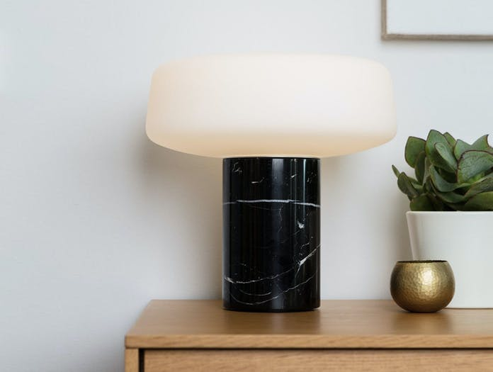Terence Woodgate Solid Table Light large Black Nero Marquina Marble 2