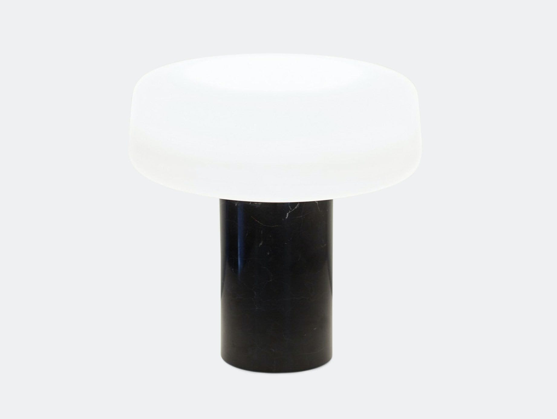 Terence Woodgate Solid Table Light large Black Nero Marquina Marble