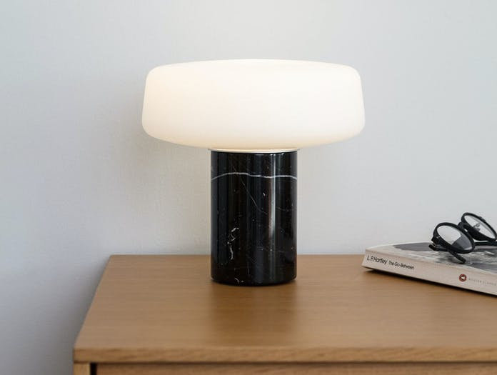 Terence Woodgate Solid Table Light small Black Nero Marquina Marble 2