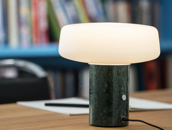 Terence Woodgate Solid Table Light small Serpentine Green Marble 2