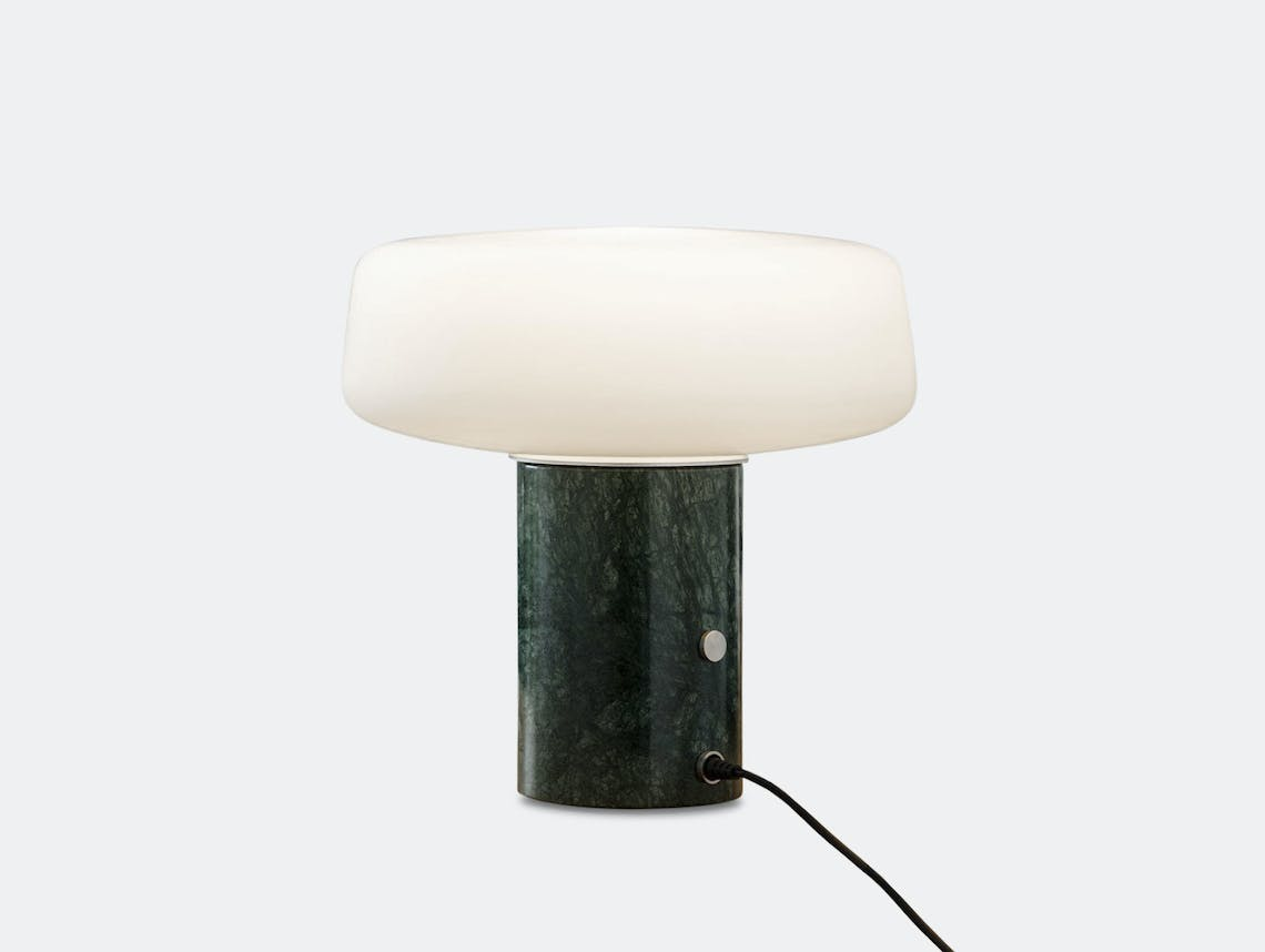 Terence Woodgate Solid Table Light small Serpentine Green Marble