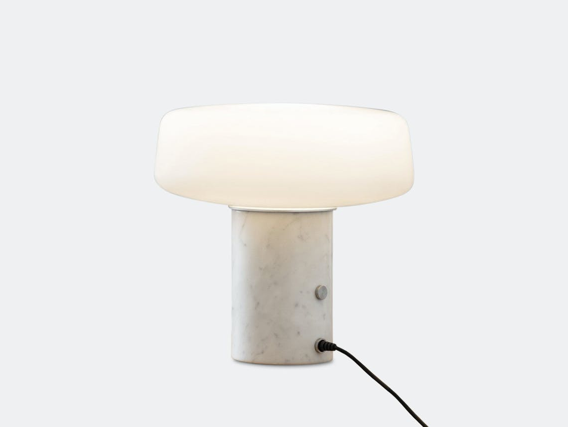 Terence Woodgate Solid Table Light small White Carrara Marble