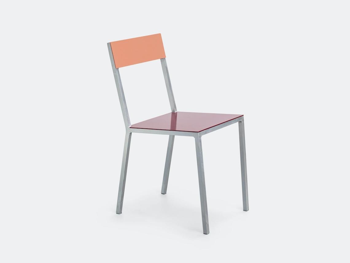 Valerie Objects Alu Chair Pink Burgundy Muller Van Severen