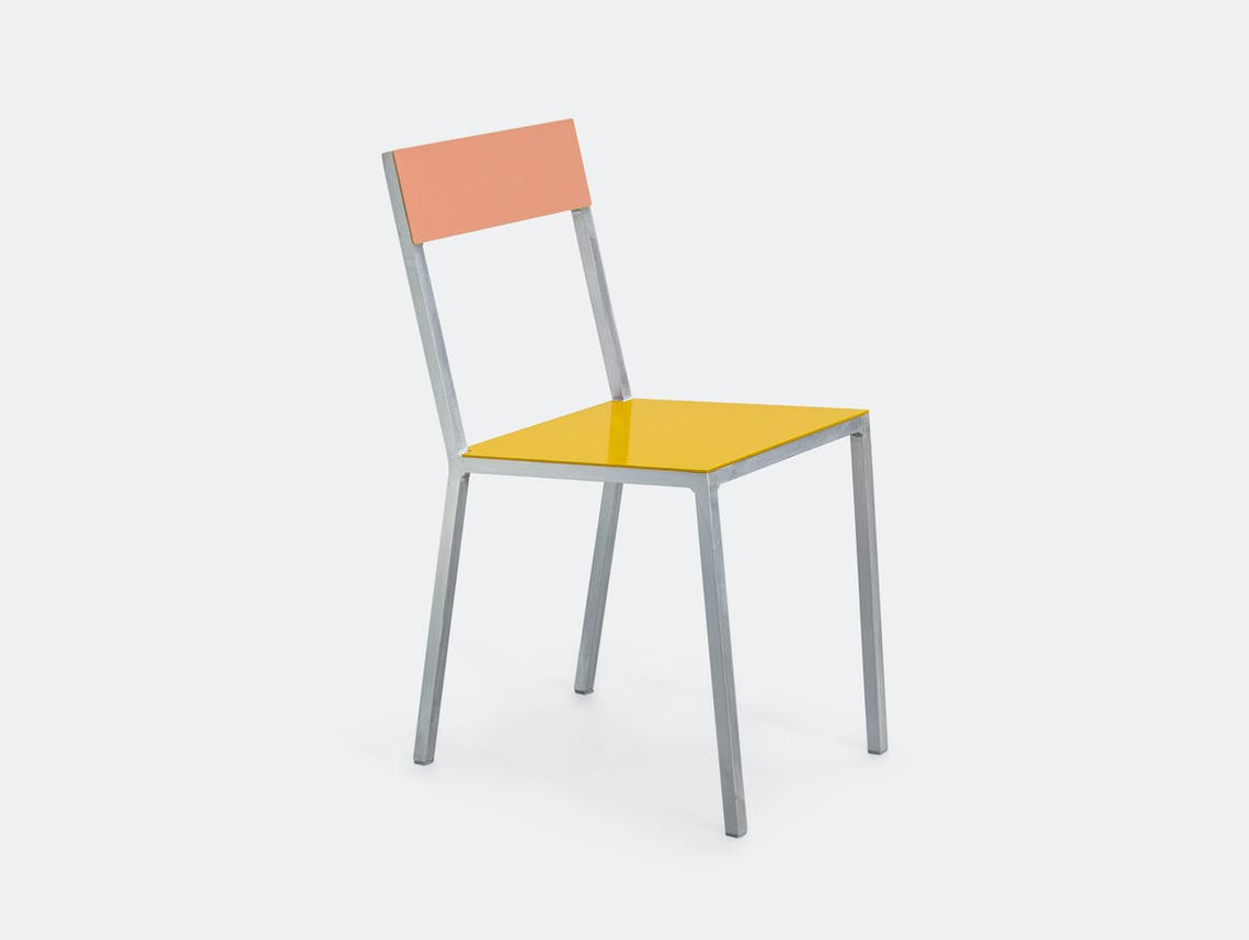 Valerie Objects Alu Chair Pink Yellow Muller Van Severen