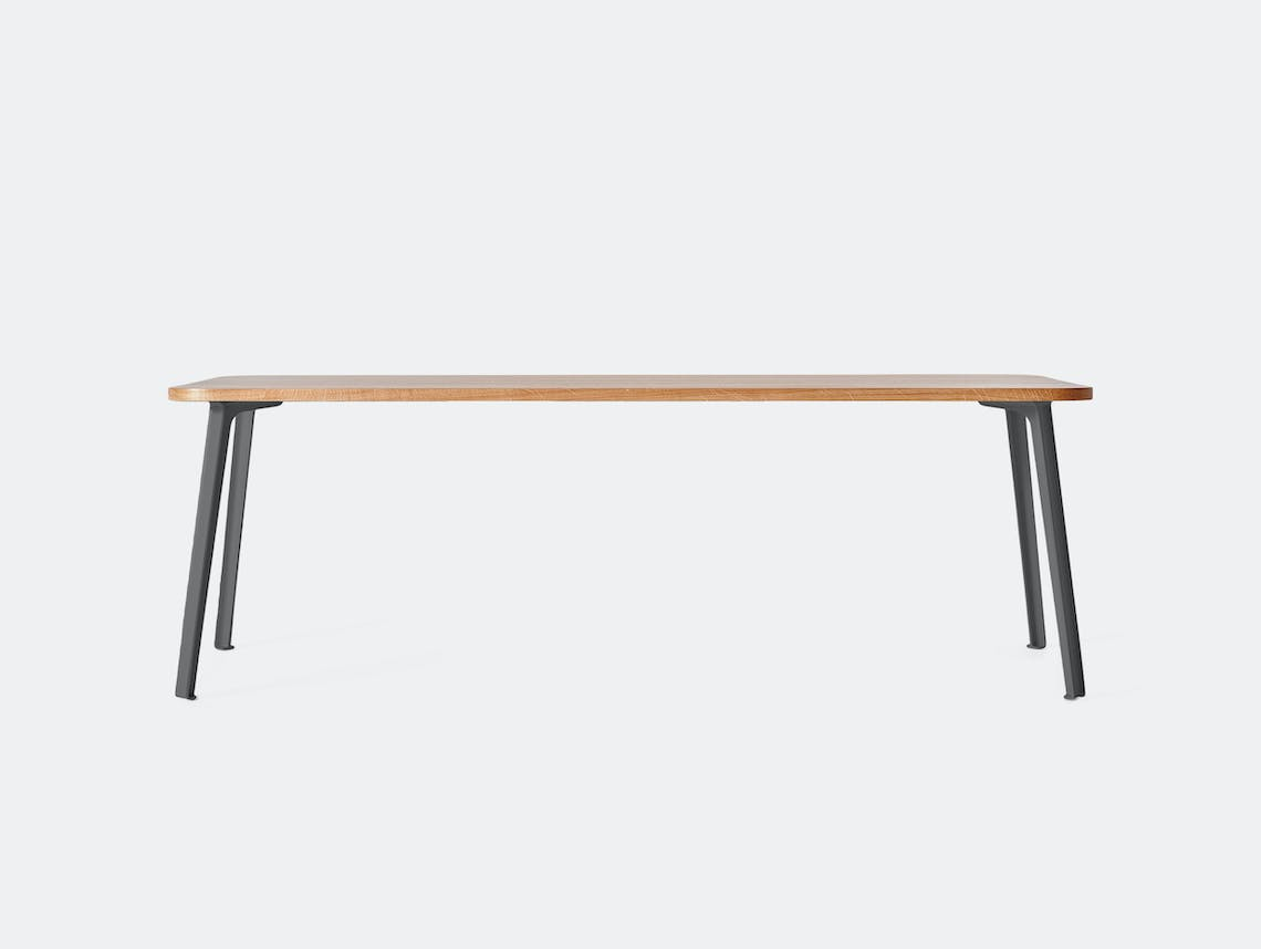 Very Good and Proper Canteen Rectangle Table XL oak graphite Klauser and Carpenter