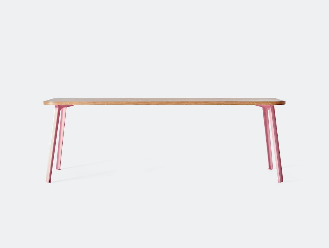 Very Good and Proper Canteen Rectangle Table XL oak pink Klauser and Carpenter