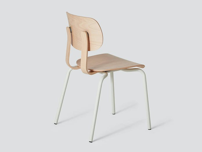 Very Good and Proper HD Stacking Chair beech grey white John Tree