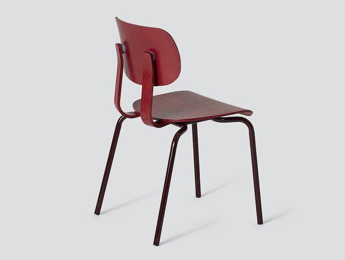 Very Good and Proper HD Stacking Chair black red John Tree