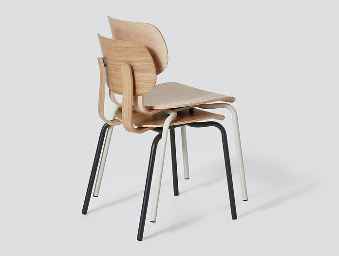 Very Good and Proper HD Stacking Chair oak beech John Tree