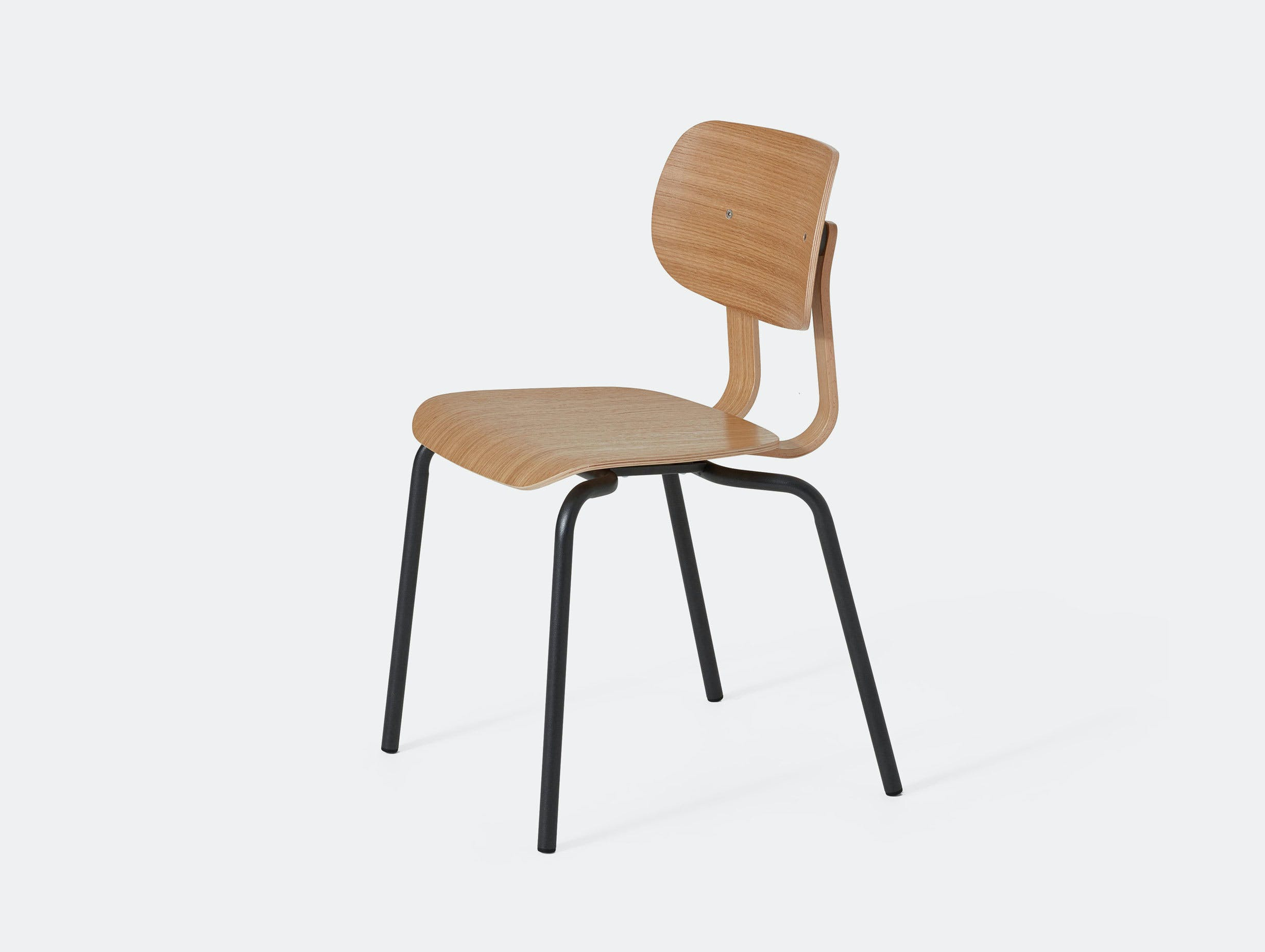 Very Good and Proper HD Stacking Chair oak graphite John Tree