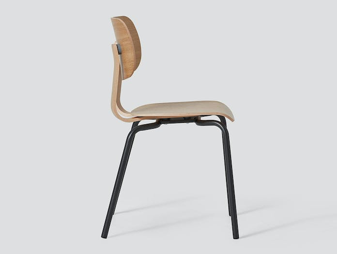 Very Good and Proper HD Stacking Chair oak graphite side John Tree