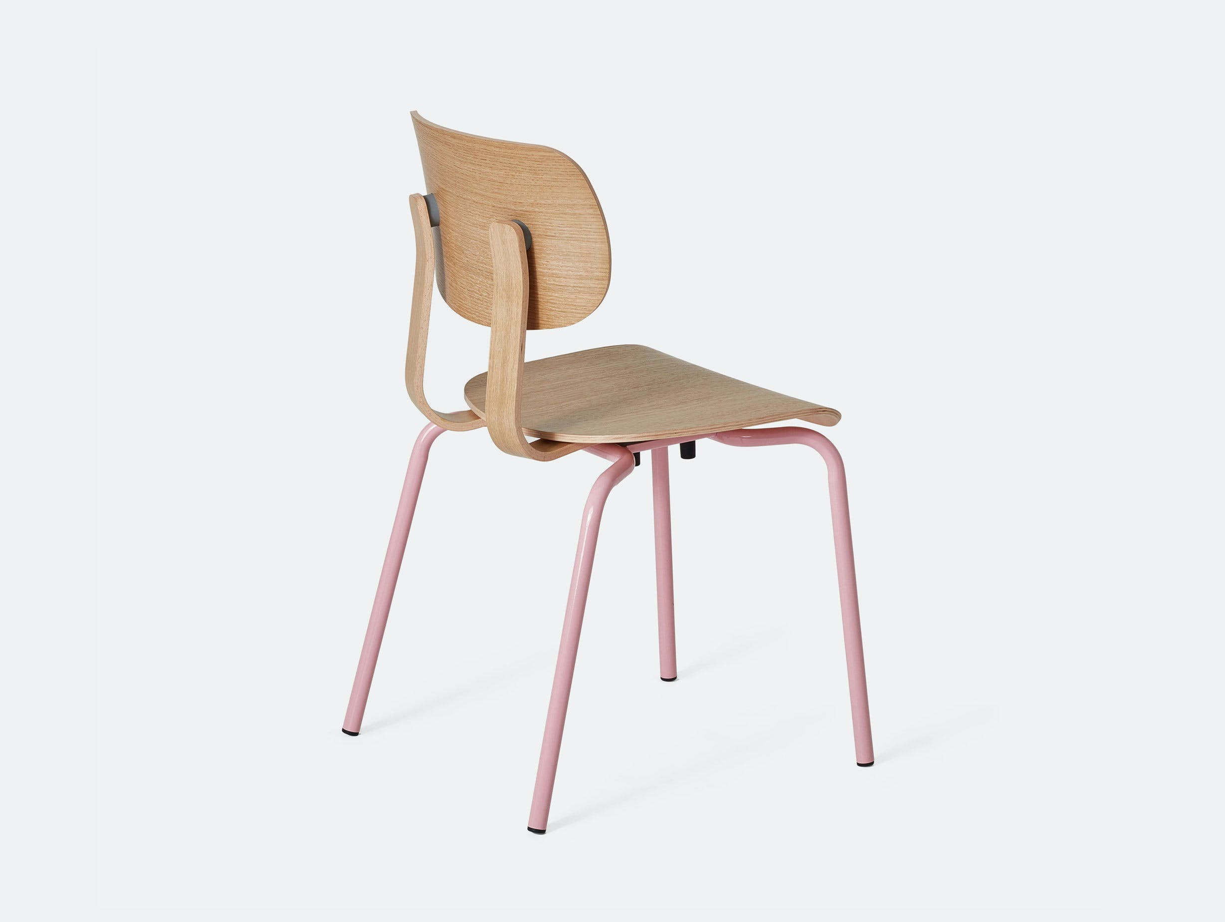 Very Good and Proper HD Stacking Chair oak pink John Tree