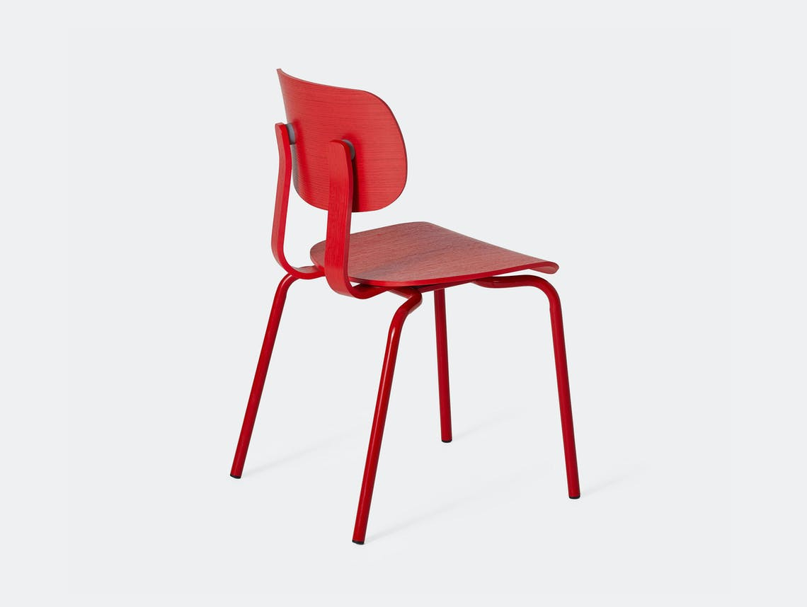 Very Good and Proper HD Stacking Chair signal red John Tree