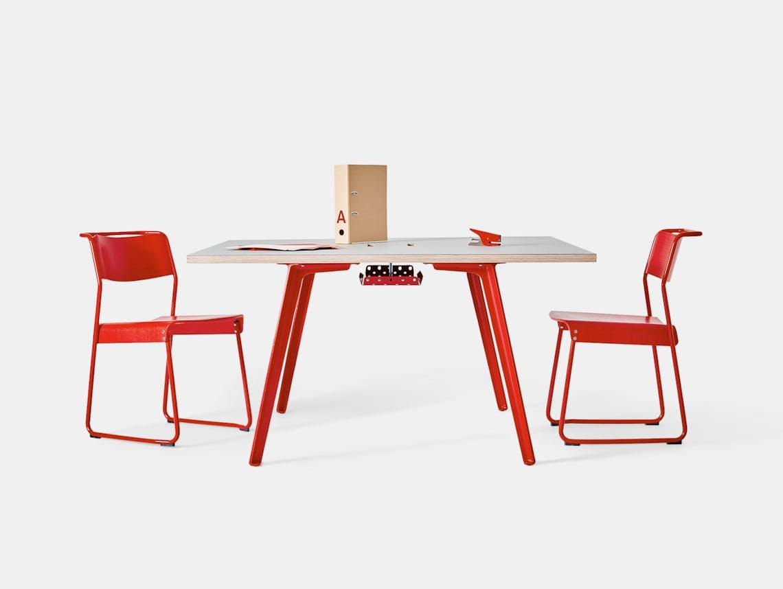 Very Good and Proper XL Modular Desk 120cm square Klauser and Carpenter