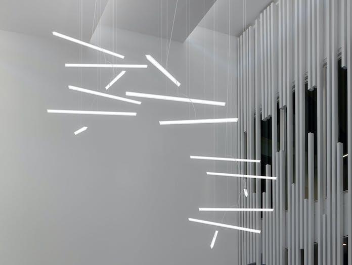 Vibia Halo Lineal Pendant Light group Martin Azua