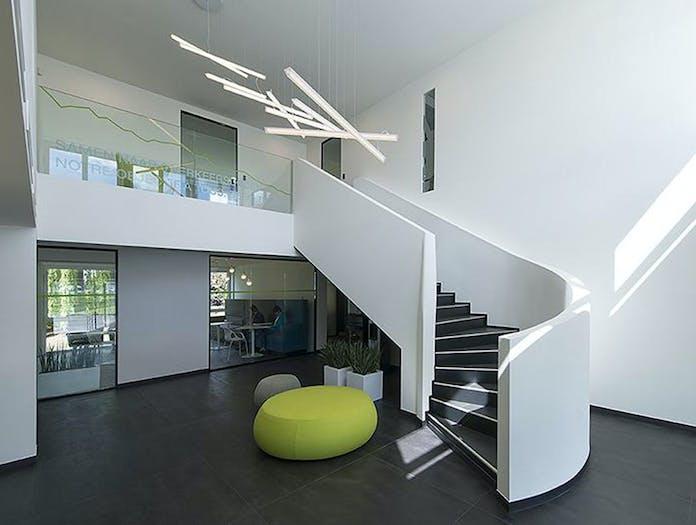 Vibia Halo Lineal Pendant Lights staircase Martin Azua