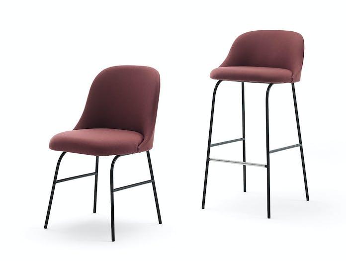 Viccarbe Aleta Chair Stool metal base 1 Jaime Hayon