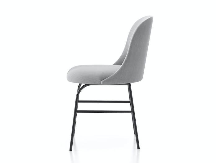 Viccarbe Aleta Chair metal base side Jaime Hayon