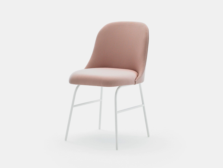 Viccarbe Aleta Chair metal base white Jaime Hayon