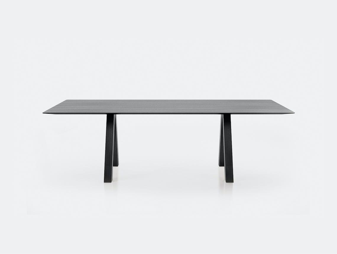 Viccarbe Trestle Table black ash John Pawson
