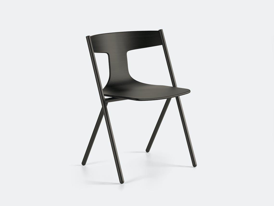 Viccarbe Quadra Chair Black Oak Black