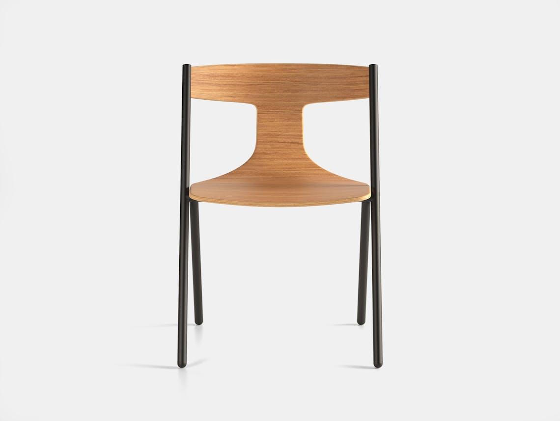 Viccarbe Quadra Chair Oak Black 2