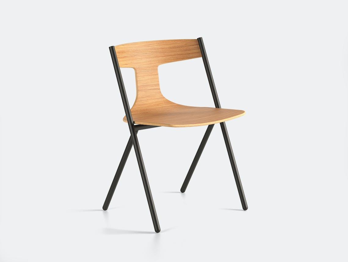 Viccarbe Quadra Chair Oak Black