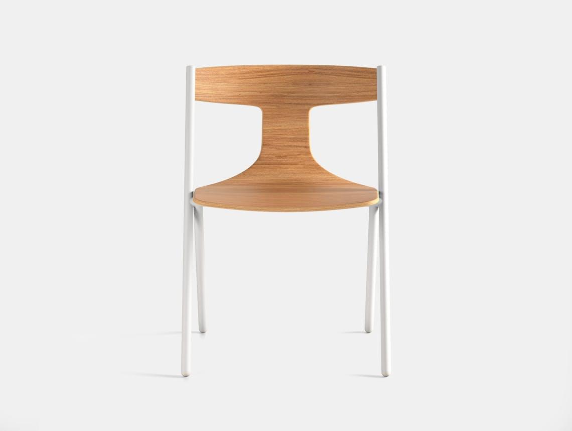 Viccarbe Quadra Chair Oak White 2