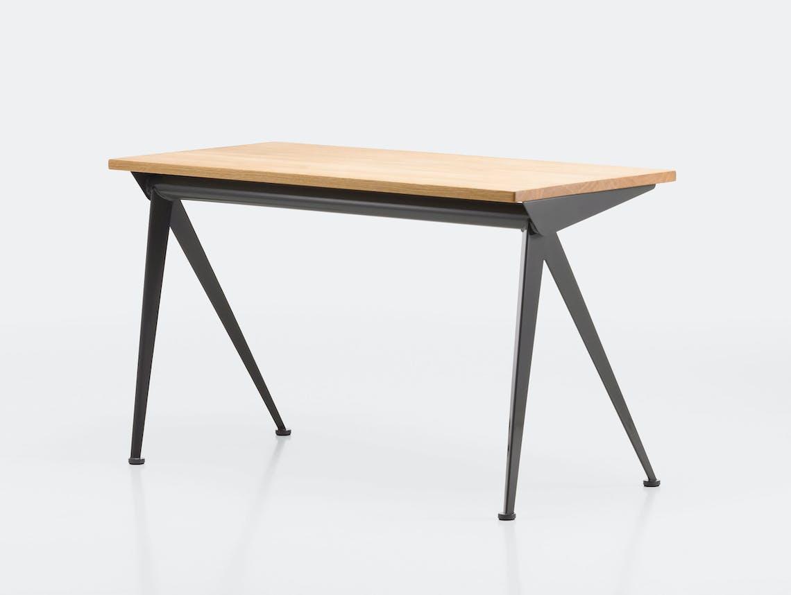 Vitra Compas Direction Desk Deep Black Oak Jean Prouve