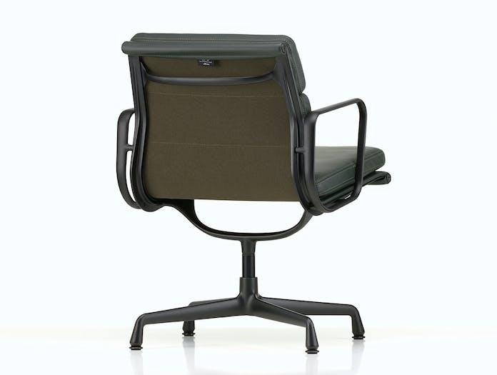 Vitra EA208 Soft Pad Group Chair black back view