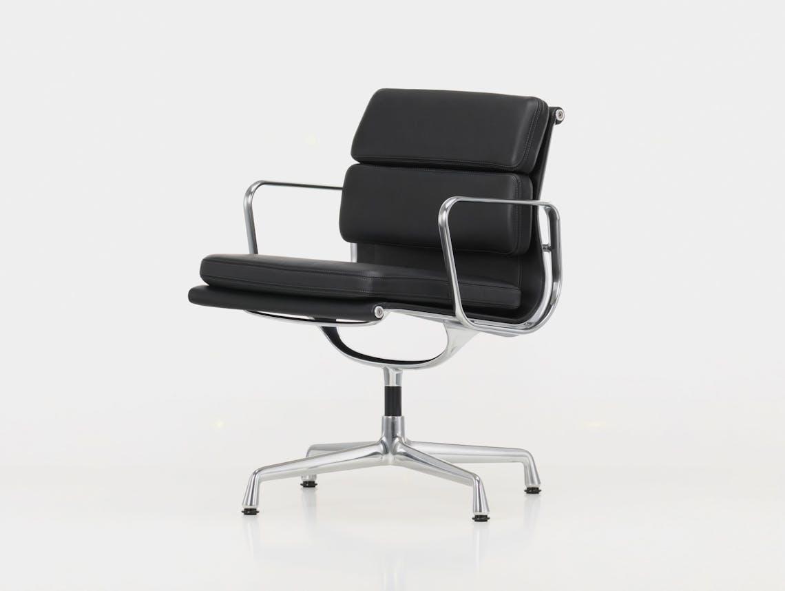 Vitra EA208 Soft Pad Group Chair polished alu black