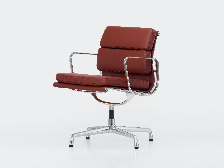 Vitra EA208 Soft Pad Group Chair polished alu brandy