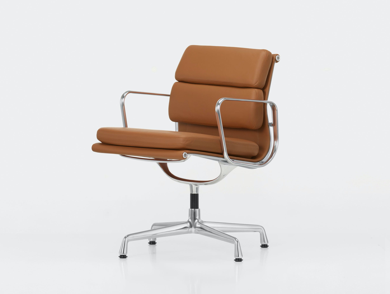 Vitra EA208 Soft Pad Group Chair polished alu cognac
