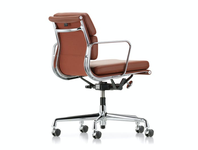 Vitra EA217 Soft Pad Group Chair polished alu brandy Eames back