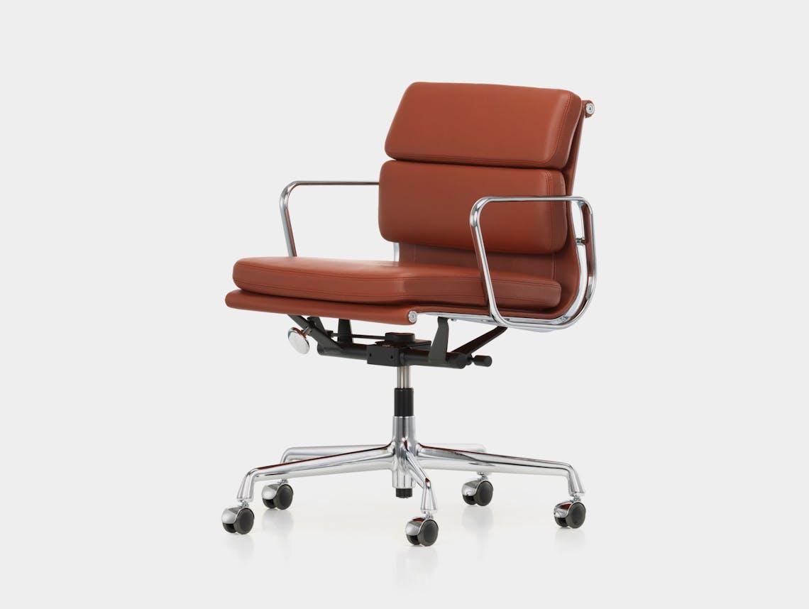 Vitra EA217 Soft Pad Group Chair polished alu brandy