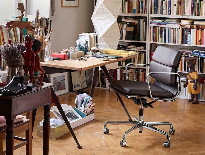 Vitra EA217 Soft Pad Group Chair polished alu