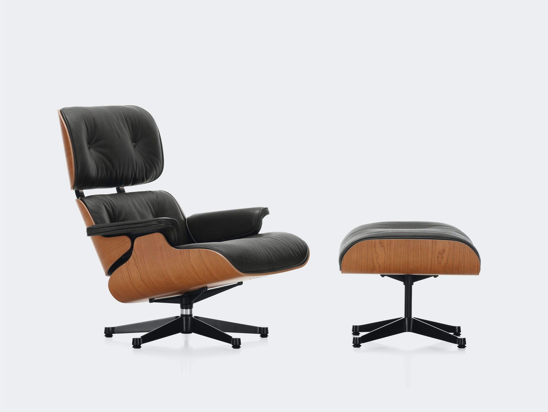 Vitra Eames Lounge Chair Ottoman cherry