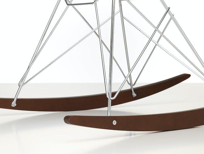 Vitra Eames Plastic Armchair RAR dark maple chrome base detail