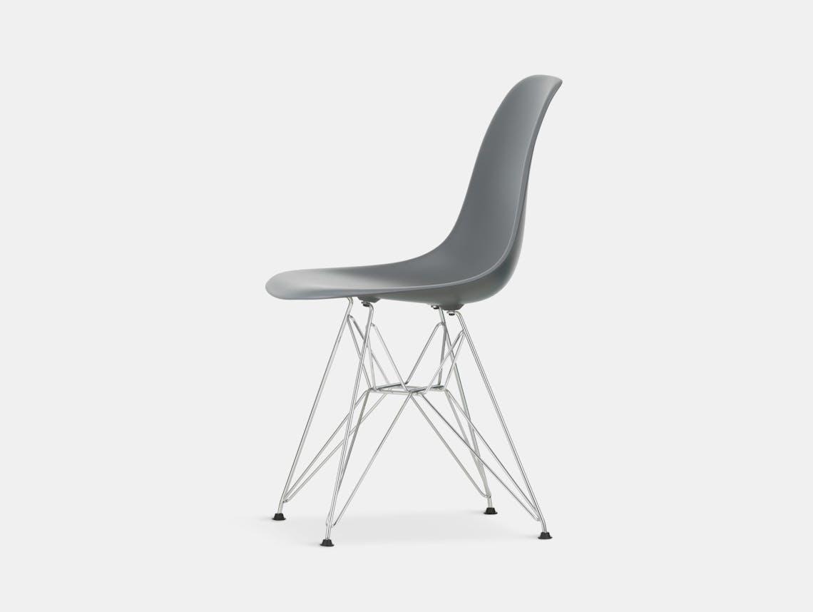 Vitra Eames Plastic Side Chair DSR granite grey chrome legs