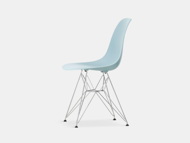 Vitra Eames Plastic Side Chair DSR ice grey chrome legs