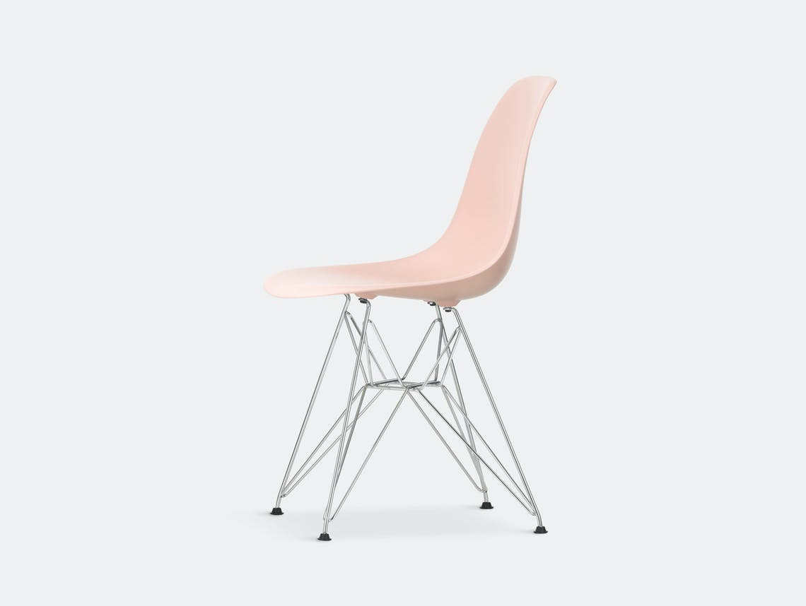 Vitra Eames Plastic Side Chair DSR pale rose chrome legs
