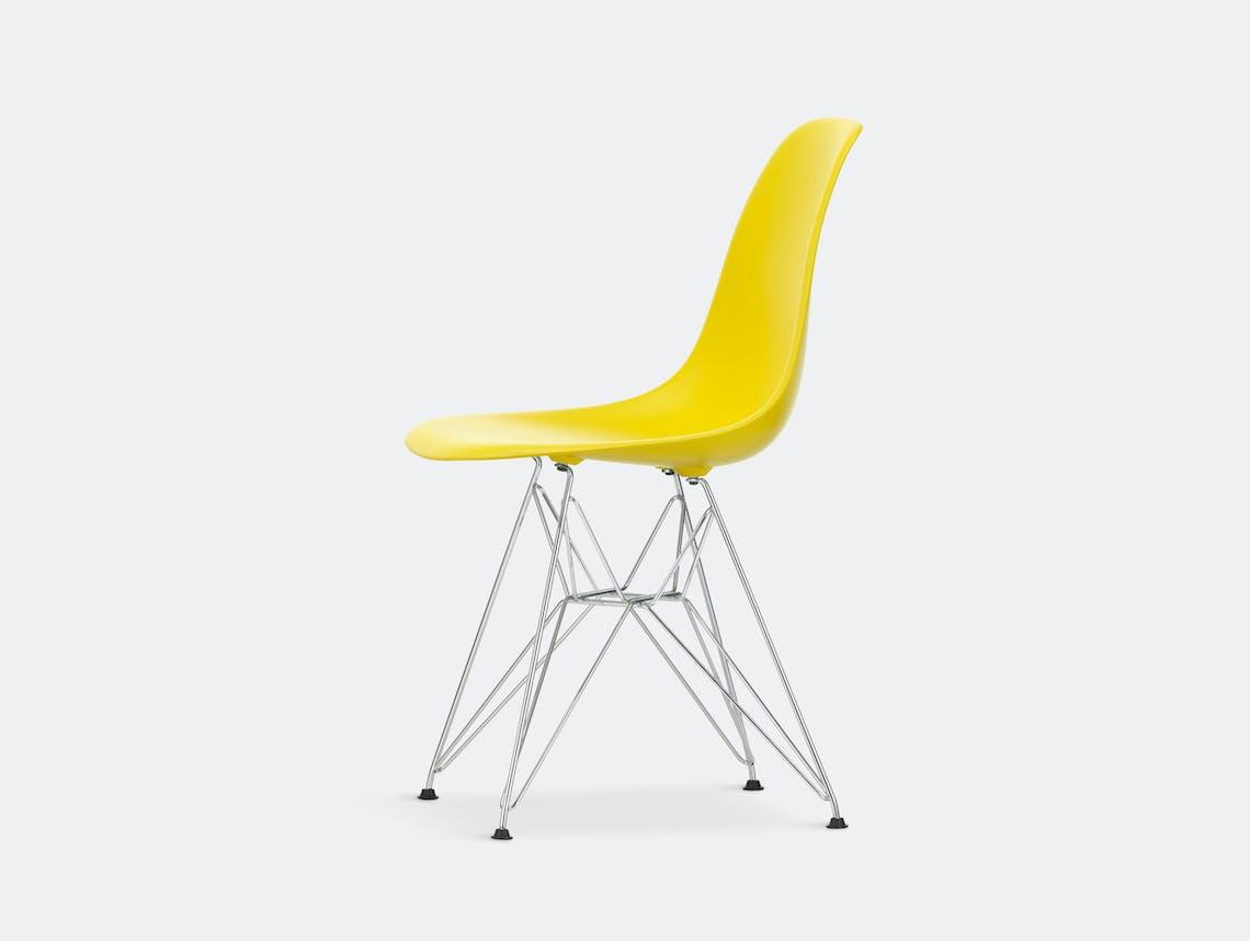 Vitra Eames Plastic Side Chair DSR sunlight chrome legs